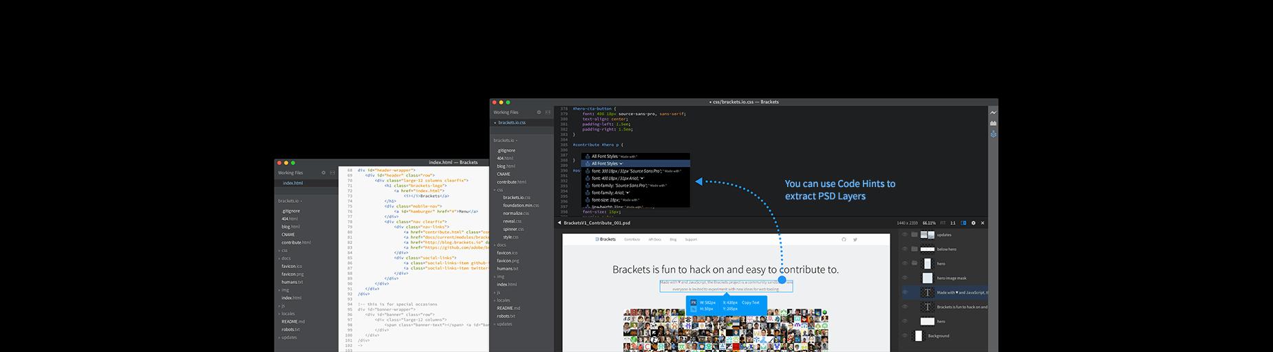 Brackets Extract, оновлення перекладу IDE та розширень feature image